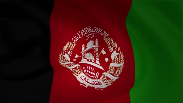 Animation of Afghanistan Flag Slow Waving Background Collection