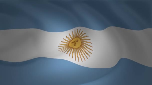 Close up of Argentina flag waving animation background