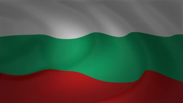 Bulgaria flag waving in the wind animation collection