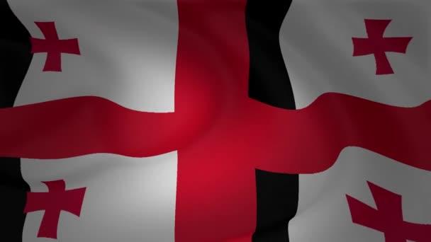 Georgia zászló integet a szél animáció gyűjtemény