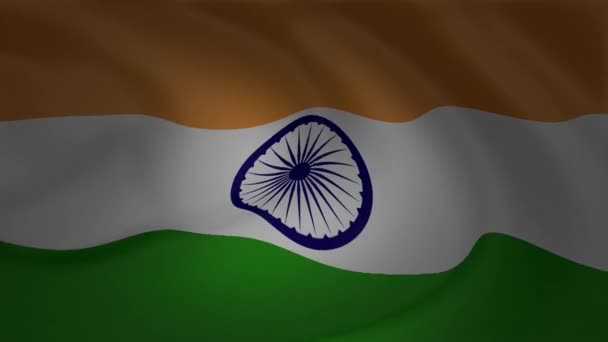 Indian Animated Flag Waving: Animation India Flag Waving Wind Collection