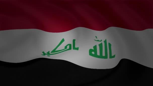 Irak zászló integet a szél gyűjtemény animáció