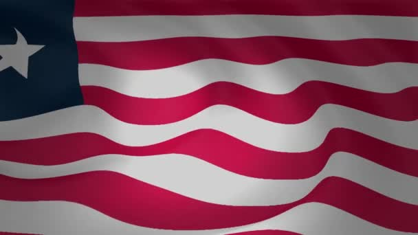 Liberia Flag Slow Waving Footage Collection