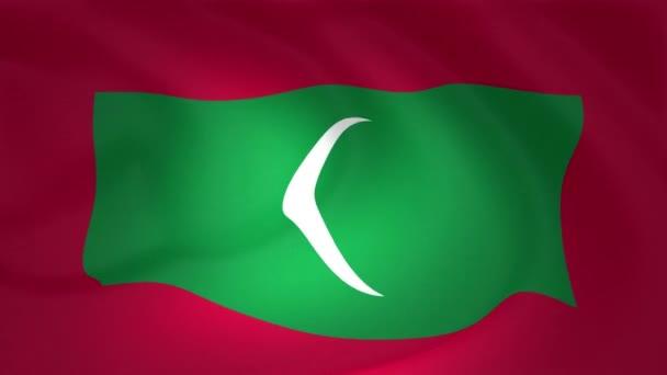 Egy szép szatén jelző animáció a Maldív-szigetek-gyűjtemény