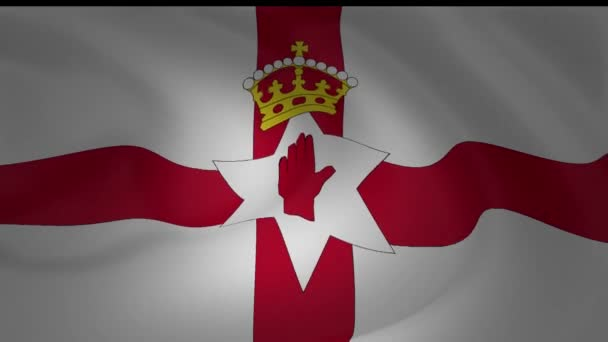 Northern Ireland Flag National Symbol Collection Stockvideo