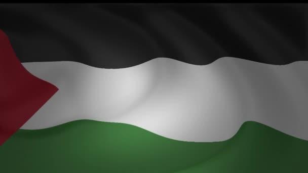 Flagge von Palästina Chile Animation Loop Sammlung