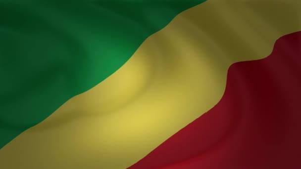 Varrás nélküli hurkolás zászló gyűjtemény Kongói Köztársaság