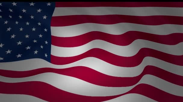Animation of United States of America national flag waving collection