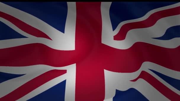 Az Egyesült Királyság nemzeti zászlót lengetve gyűjtemény animáció