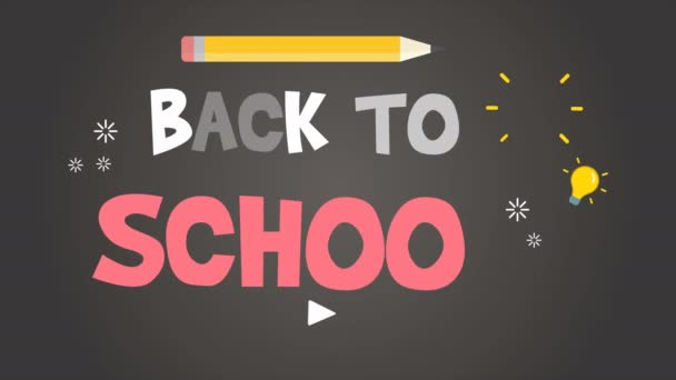 Footage of back to school background collection