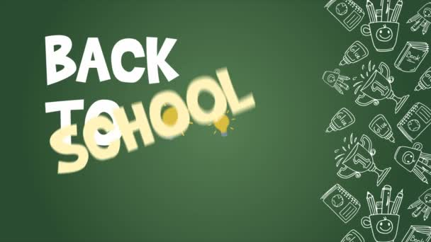 Back to school footage background collection