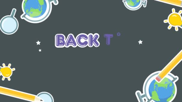 Collection of back to school animation background