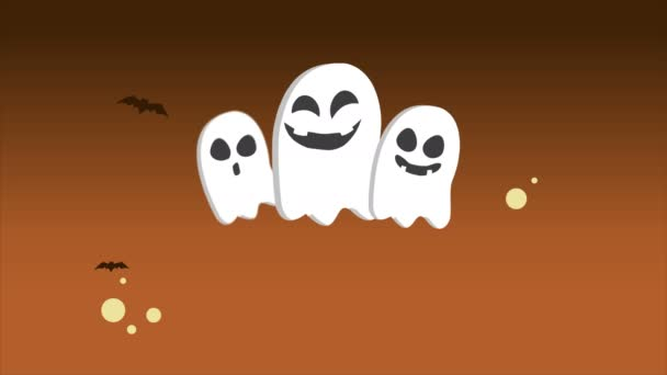 landscape halloween theme animation background collection stock