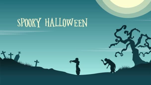Krajina den Halloween zombie animace pozadí