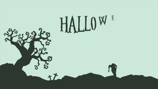 Krajina kolekce pozadí animace Halloween strašidelná noc