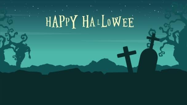 Krajina z Happy Halloween s zombie animace pozadí
