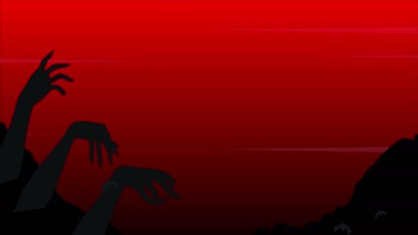 Šťastný Halloween Koledu nebo vám něco s zombie ruční animace pozadí