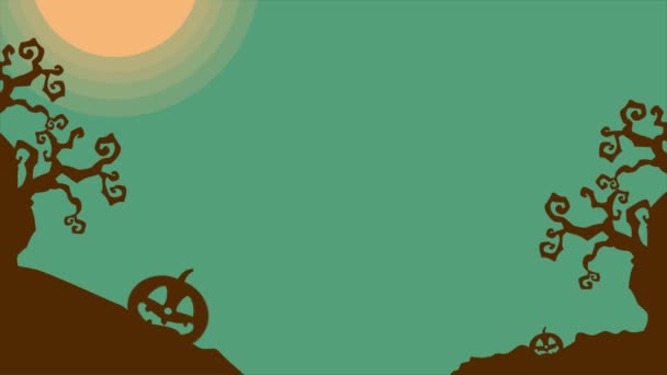 Footage of Halloween at night landscape background collection