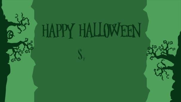 Kolekce Happy Halloween animace pozadí stylu