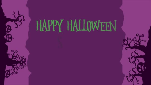 Happy Halloween animation background style collection