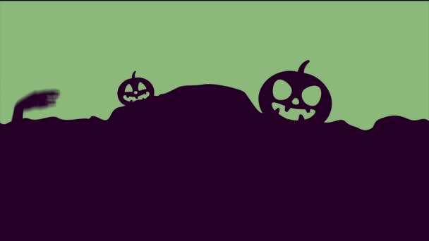 Strašidelné Halloween noc strana krajina animace pozadí