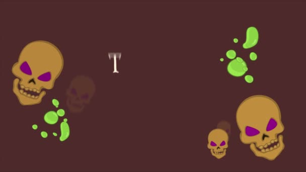 Trick or treat Halloween background animation collection