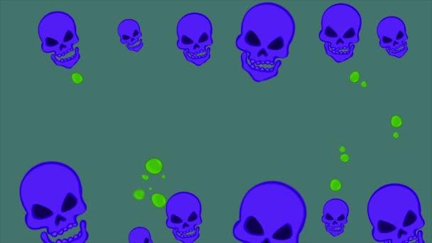 Kolekce Happy Halloween strašidelný večírek animace pozadí