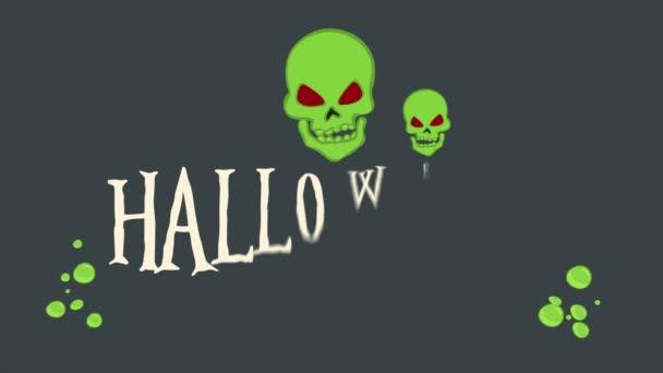Animace z kolekce pozadí strany Halloween noc
