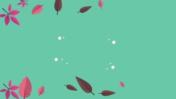Krásný podzim Banner s listy animace kolekce