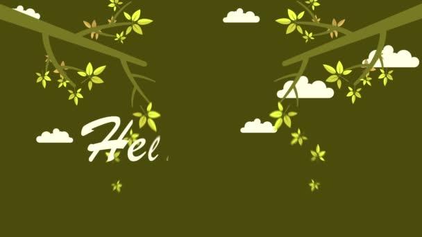 Podzimní krajina s podzimní listy kolekce pozadí animace
