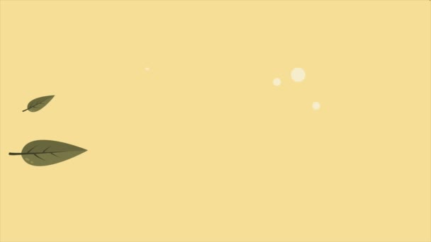 Autumn with leaves animation background style collection