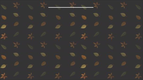 Podzimní pozadí s listy animace kolekce