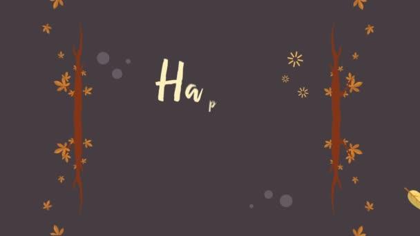 Kolekce happy podzimní záběry pozadí animace