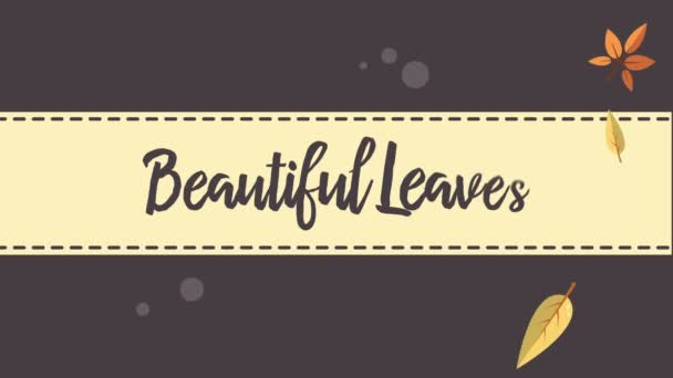 Podzimní listové létání a krásné listy video sbírku