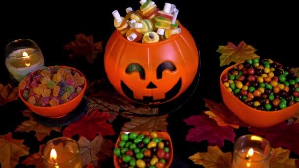 a sütőtök vödör Halloween felvételeket gyűjtemény különböző cukorka
