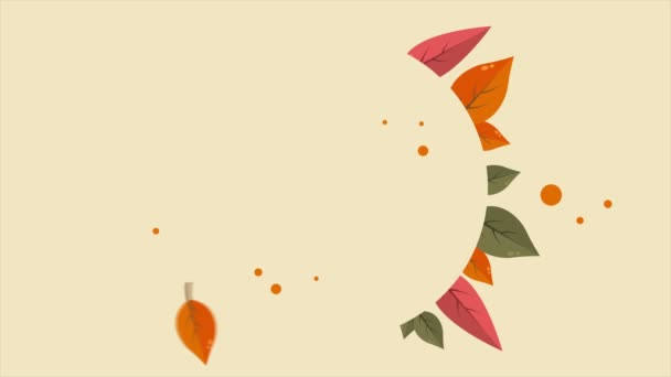 Happy autumn day with leaf footage collection