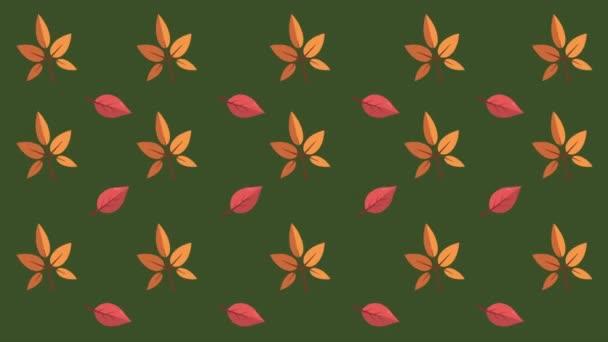 Javorové listy podzimní den pozadí kolekce