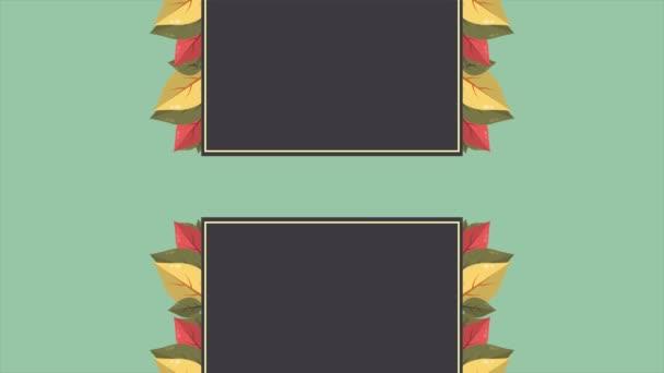 Podzimní prodej textové animace banner s barevnými sezónní kolekce