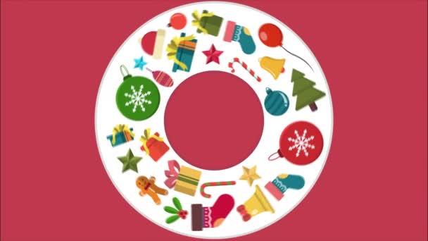 Příjemné svátky a veselé Vánoce animace kolekce