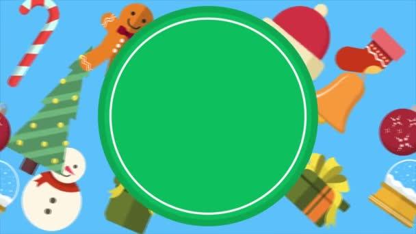 Weihnachtsschmuck Hintergrund Footage Kollektion