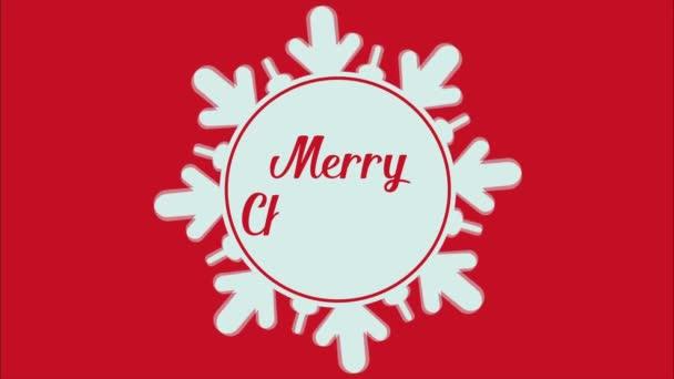 Animace pro Veselé Vánoce s sněhové vločky