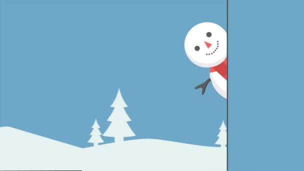 Felvétel a boldog karácsonyt hóember gyűjtemény