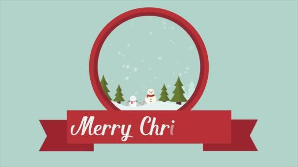Boldog karácsonyt hóember táj gyűjtemény felvétel