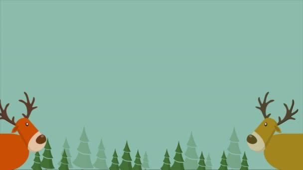 Boldog karácsonyi ünnepeket és boldog új évet-animáció gyűjtemény