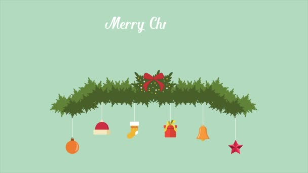 Happy Merry Christmas with ornament footage collection