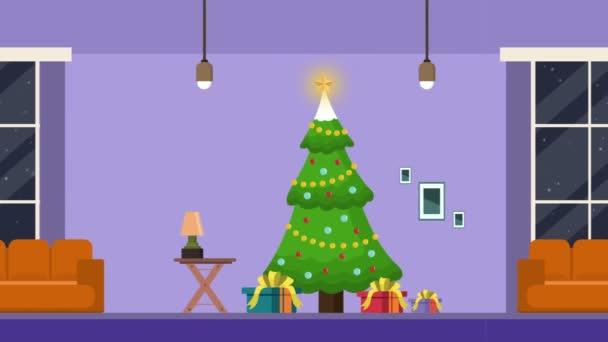 Dům na stromě vánoční krajina záběry kolekce