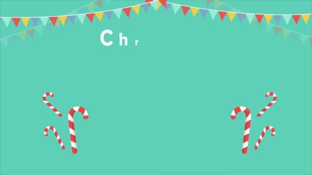 Animace z kolekce candy vánoční svíčku a pásu karet
