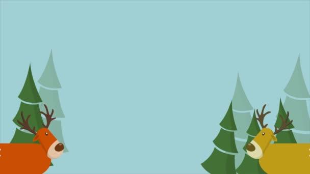 A szarvas a merry Christmas-gyűjtemény karácsonyi animáció