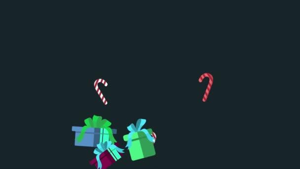 Animace dárek Vánoce a candy hole. Vánoční kolekce