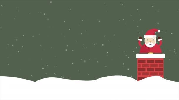 Animace na pozadí Santa Clause. Vánoční kolekce